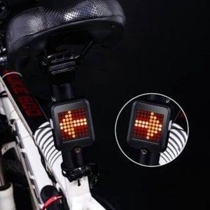 מנורת ברקס אחורית לאופניים כולל מערכת איתותים אוטומטיים
