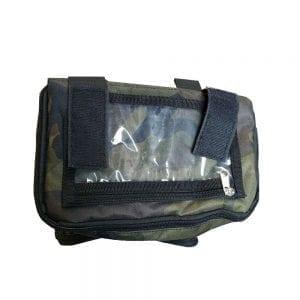 תיק קדמי קשיח לאופניים חשמליים כולל כיסוי נגד גשם לסלולארי תומך מגע! ירוק זית