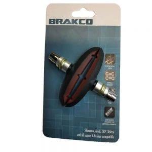 רפידות בלם וי ברקס V Brakes BRAKCO לאופניים חשמליים S2