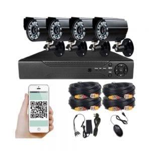 סט איכותי של 4 מצלמות + DVR